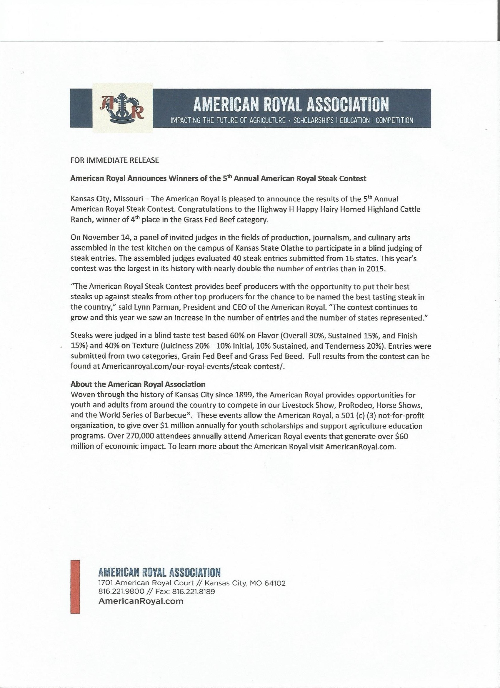 American Highland Cattle Association